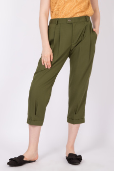 Bottom Wely Pleat Pants wely pants olive  1